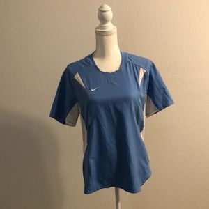 Nike Tops - Nike Dri Fit Blue and White Shirt